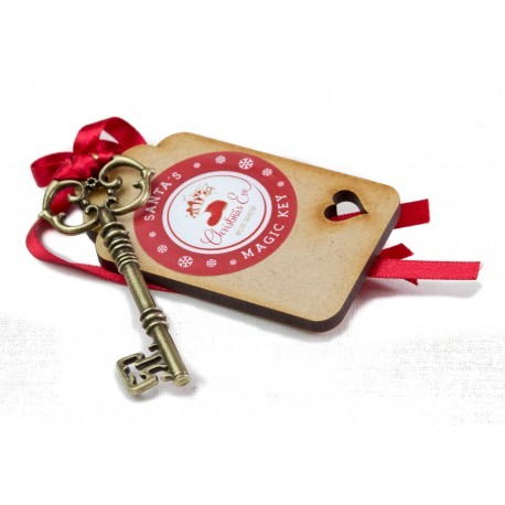 Key with Wooden Tag